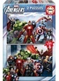 Educa Educa Çocuk Puzzle Karton 2X100 Avengers Renkli
